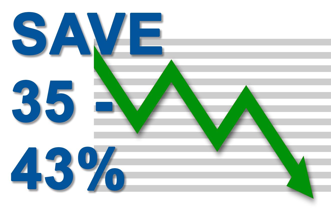 Save 35-43% Callout